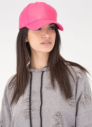 Even Better On Faux Leather Cap
