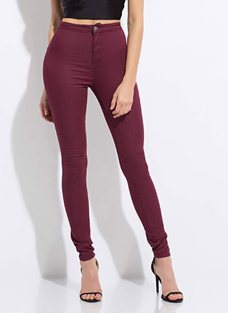 Poured Into My High-Waisted Jeggings