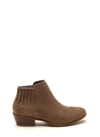 High Street Faux Suede Booties