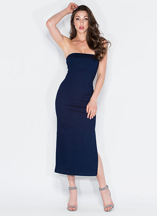 Jean Queen Strapless Dress