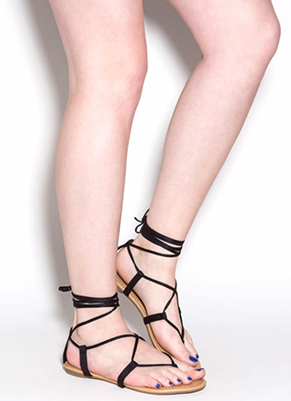 They're To Tie For Lace-Up Thong Sandals
