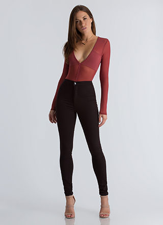 Feel The High-Waisted Skinny Jeans