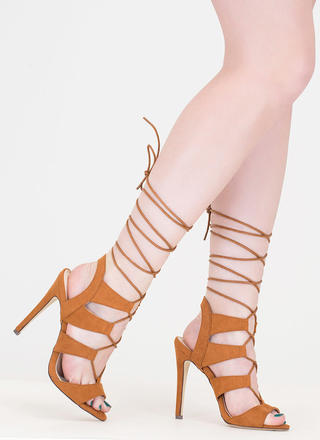 Master Plan Lace-Up Heels