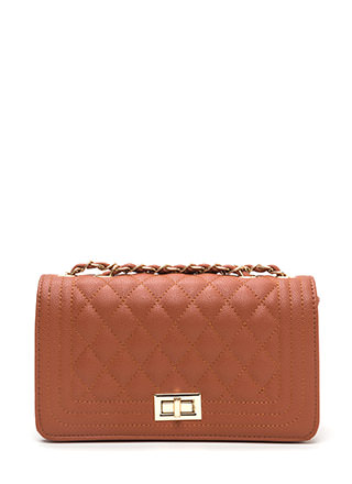 High Class Quilted Faux Leather Purse