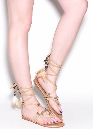 Desert Travel Boho Lace-Up Sandals
