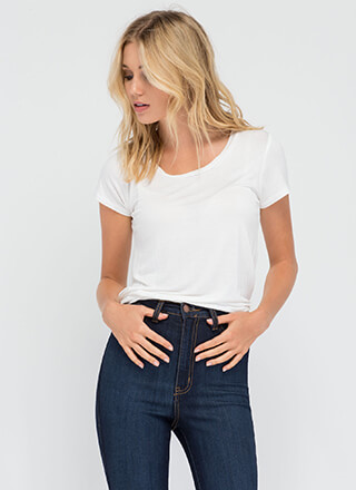 You Can't Go Wrong With A Simple Tee
