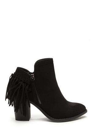 Knot A Cowgirl Faux Suede Booties