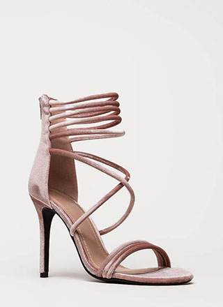 Velvet Touch Strappy Stiletto Heels