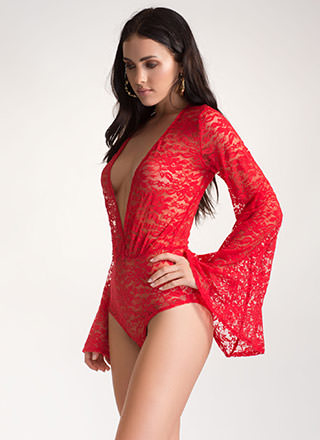 Best Lace Scenario Sheer Bodysuit