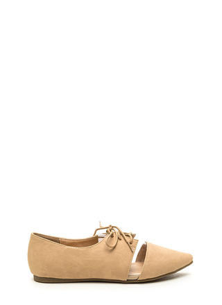 Top Exposure Faux Leather Flats