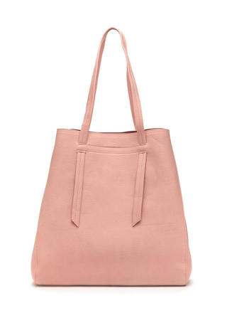 Bag Lady Faux Leather Tote