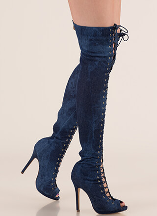 Revamp Denim Over-The-Knee Boots