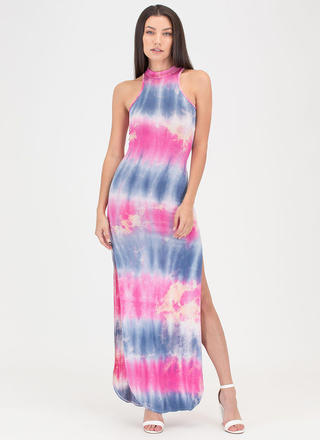 California Dreamin' Tie-Dye Maxi Dress