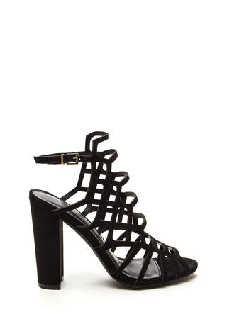 Fresh 'N Fancy Cut-Out Caged Heels