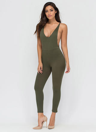 U Got It Cropped Open Back Jumpsuit