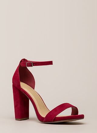 Evening To Remember Velvet Chunky Heels
