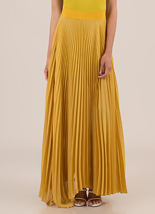 Act Accordionly Pleated Maxi Skirt