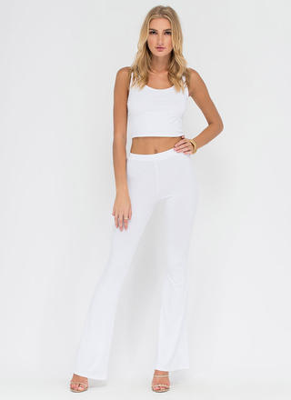 Dare To Be Flared Knit Pants