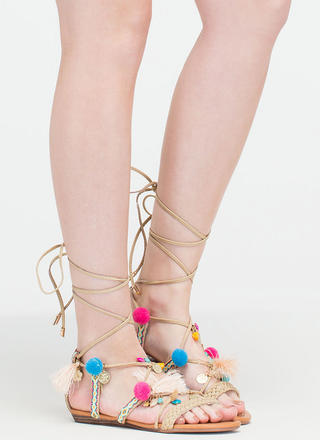 Just For Decoration Lace-Up Sandals