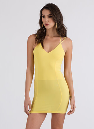 Curve Warning Strappy Minidress