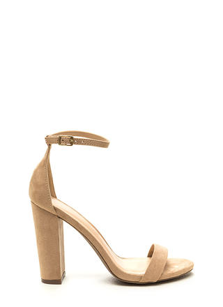 Pure 'N Simple Faux Suede Chunky Heels