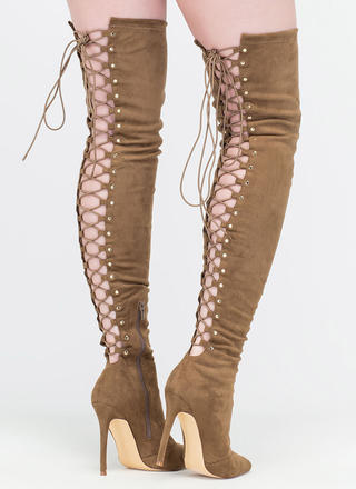 High Fever Over-The-Knee Lace-Up Boots