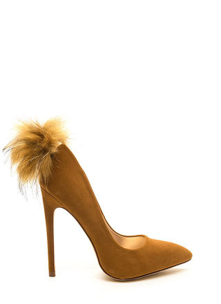 Feathered Friend Pointy Velvet Pumps