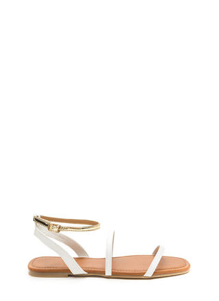 Feet First Metallic Strap Sandals