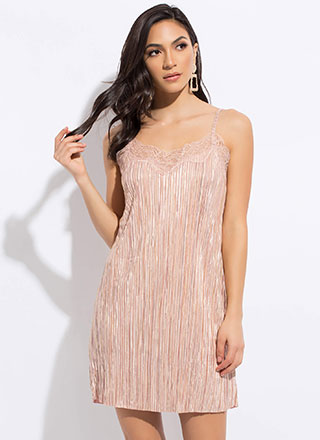 Evening Essential Metallic Slip Dress