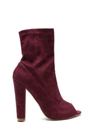 Post Modern Peep-Toe Booties