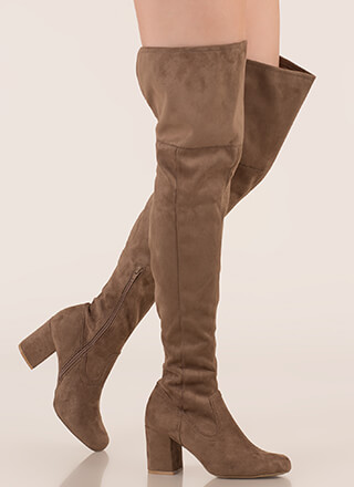 790bbd28d43 Slit Decision Thigh-High Chunky Boots