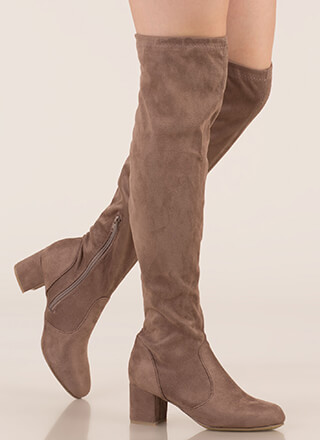 Skyline Thigh-High Faux Suede Boots