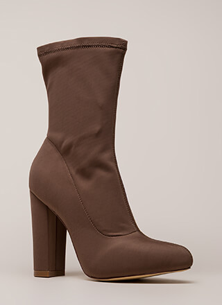 Smooth Talker Pointy Chunky Booties
