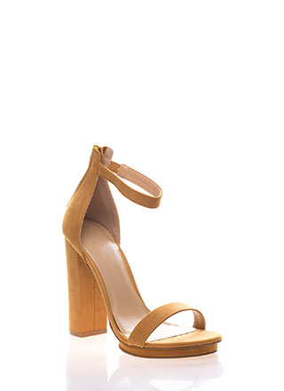 Haute 'N Bothered Strappy Chunky Heels