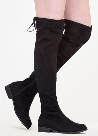 Come On Over-The-Knee Drawstring Boots