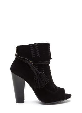 Cuff Enough Woven Chunky Booties