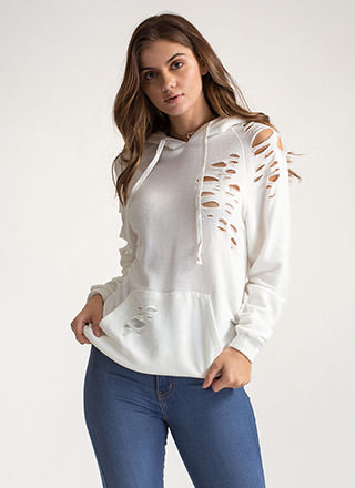 Laid-Back Life Distressed Sweatshirt
