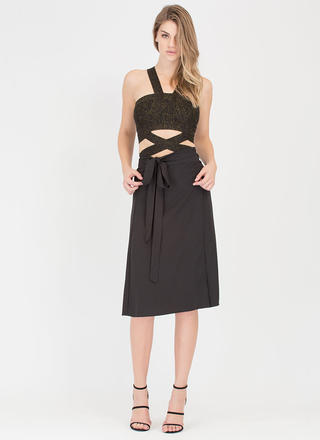 Have This All Wrapped Up Side-Tie Skirt