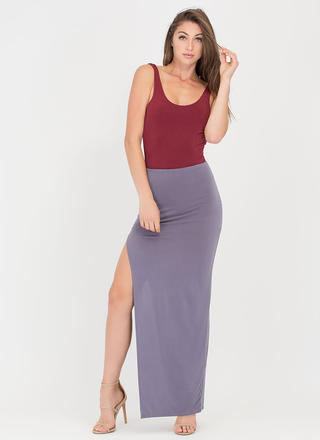 Going Long High Slit Maxi Skirt