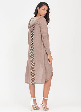 Slasher Flick Hooded Longline Duster