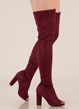f9f315357db5 Sleek Preview Chunky Thigh-High Boots