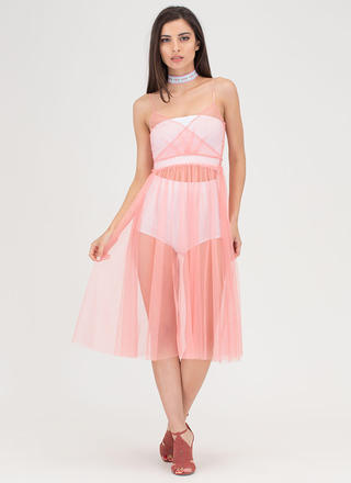 City Ballerina Sheer Tulle Dress
