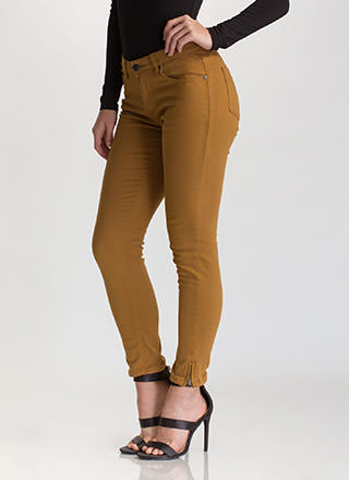 Zip To It Cropped Skinny Jeans