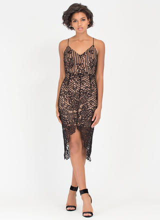 Lace Be A Lady Tonight Layered Dress