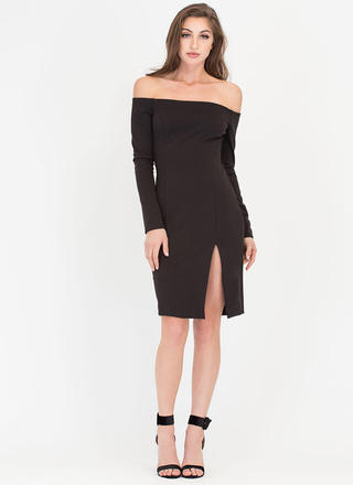 In Charge Off-Shoulder Cut-Out Dress