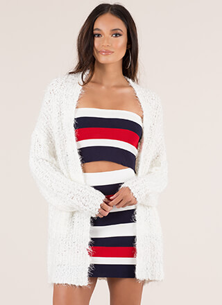 Hot Fuzz Chunky Cardigan Sweater