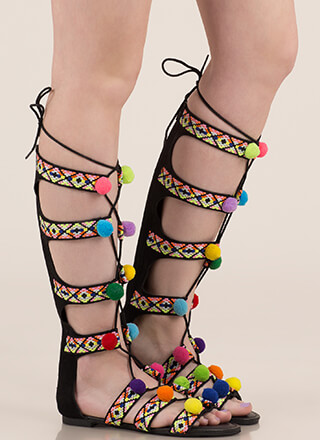 4dd9fab3d5b Gladiator Sandals - Mid-Calf   Knee High Gladiator Sandals