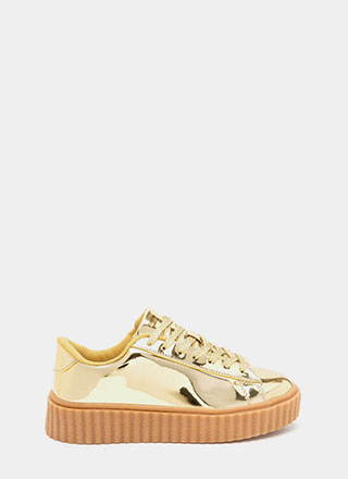 Wildest Gleam Metallic Creeper Sneakers
