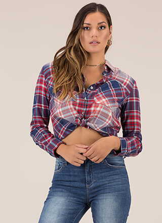 You're A Plaid Girl Button-Up Shirt
