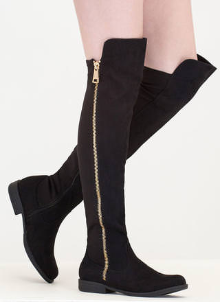 Hip To The Zip Over-The-Knee Boots